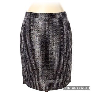 J. Crew Metallic Tweed Pencil Skirt New